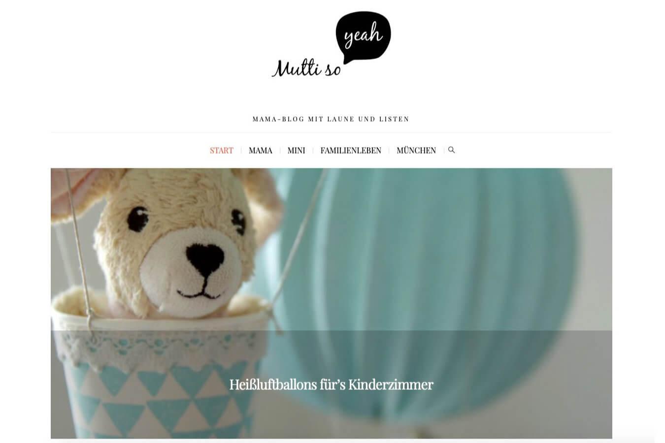 Mutti so Yeah Homepage | Ein BLITZGEEK Webdesign Projekt